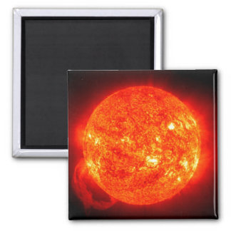 Sun Space Image 2 Inch Square Magnet