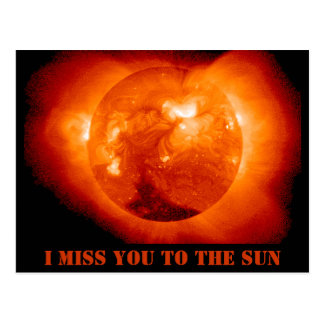 Sun space skies thinking of you postcard