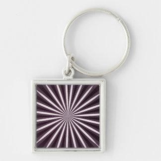 SUN Sparkle Artistic Chakra Wheel Circular Round Key Chain