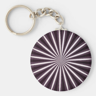 SUN Sparkle Artistic Chakra Wheel Circular Round Keychain