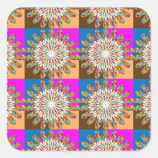 SUN sparkle chakra sunflower art by NavinJOSHI Square Sticker