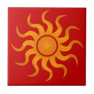 Sun Spicy Red Tile - Small