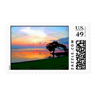 Sun Spill Postage Stamps