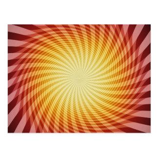 Sun Spiral: Abstract Art: Postcard