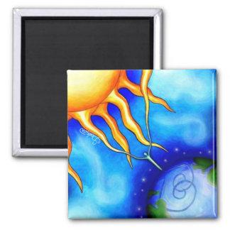 Sun Spirit Earth 2 Inch Square Magnet