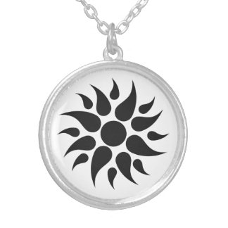 Sun Splash -  Geometric Round Pendant Necklace