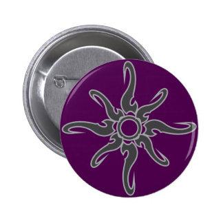 Sun Spot Tribal Glyph Symbol Pinback Button