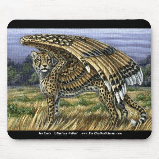 Sun Spots Winged Cheetah Mousepad