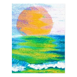Sun Stance CricketDiane Ocean Art Design Products Postcard
