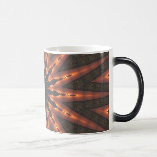 Sun star spirals fractal pattern design magic mug