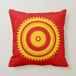 Sun star yellow-Moroccan rust Throw Pillow