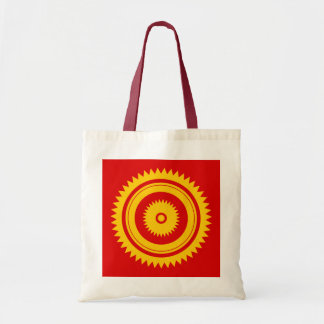 Sun star yellow-moroccan rust tote bag
