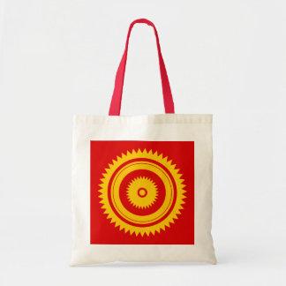 Sun star yellow-moroccan rust tote bag