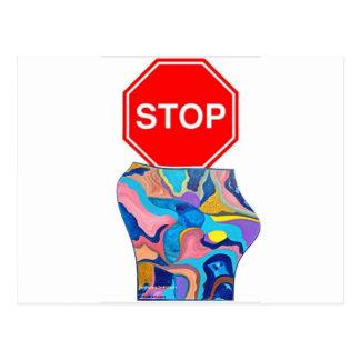 Sun Stop Sign Postcard