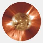 Sun Storm Round Sticker