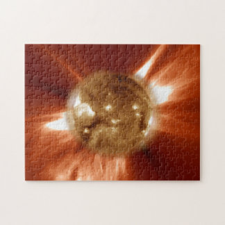 Sun Storm Taken From The SOHO Orbiting Space Lab Puzzle