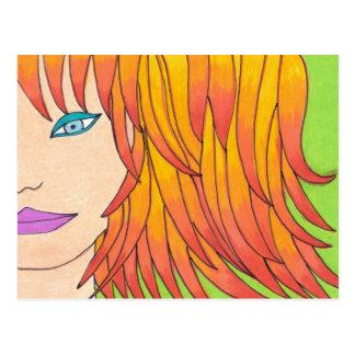 Sun Streaked Hair Postcard