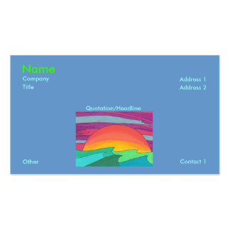 Sun Streaked Sky Business Card Template