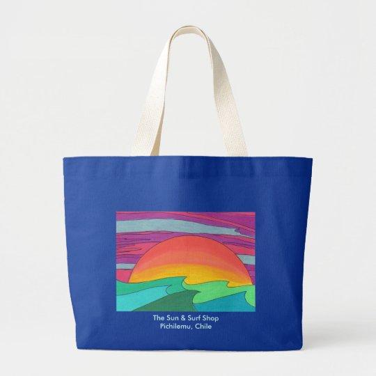 Sun Streaked Sky Large Tote Bag