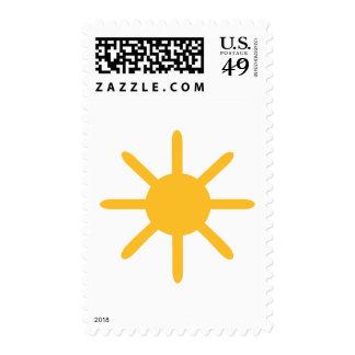 Sun - summer postage stamp