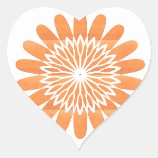 SUN Sunflower Sparkle Orange Round NVN700 gifts fu Stickers