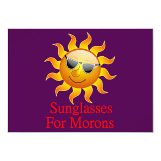 Sun Sunglasses for Morons Card
