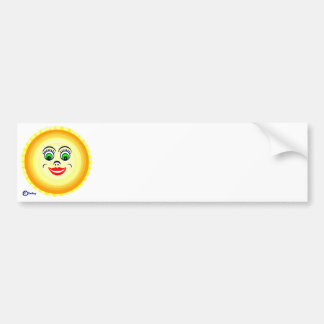 Sun Sunny Face Cutie Pie  Punim Bumper Sticker