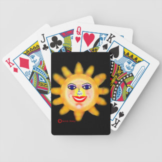 Sun Sunny Face Glamor Girl Bicycle Playing Cards