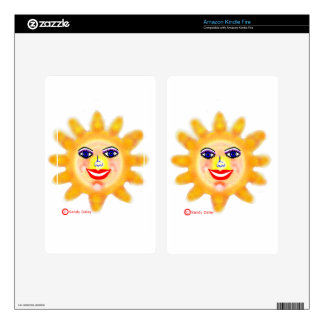 Sun Sunny Face Glamor Girl Kindle Fire Skin
