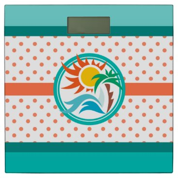 Beach Themed Sun & Surf Bathroom Scale