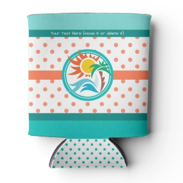 Beach Themed Sun & Surf Can Cooler