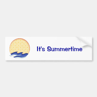 Sun & Surf Graphic Logo Bumper Sticker