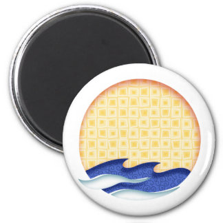 Sun & Surf Graphic Logo Magnet