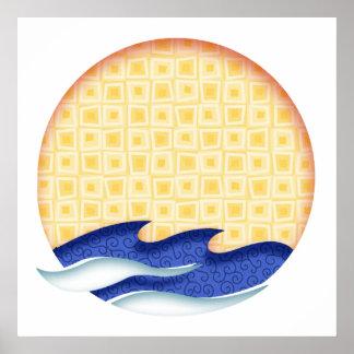 Sun & Surf Graphic Logo Print