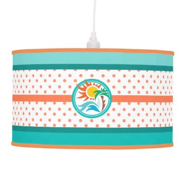 Beach Themed Sun & Surf Hanging Lamp