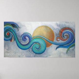 Sun Surf Koru Poster
