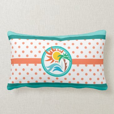 Beach Themed Sun & Surf Lumbar Pillow
