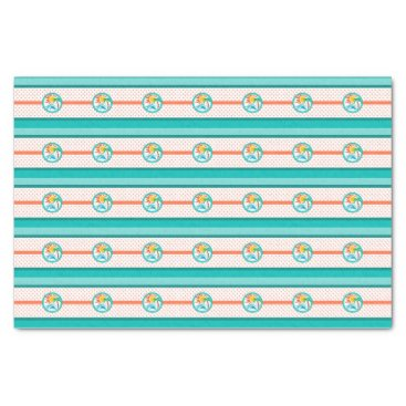 Beach Themed Sun & Surf (Orange Dots) Tissue Paper