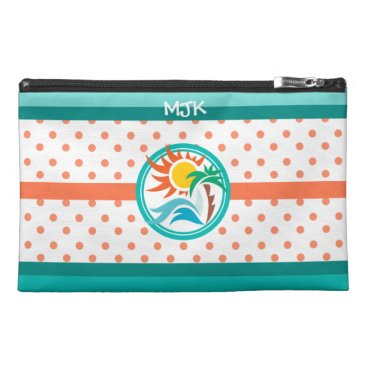 Beach Themed Sun & Surf (Orange Dots) Travel Accessories Bags