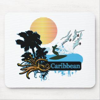 Sun Surf Palms CARIBBEAN Mouse Pad