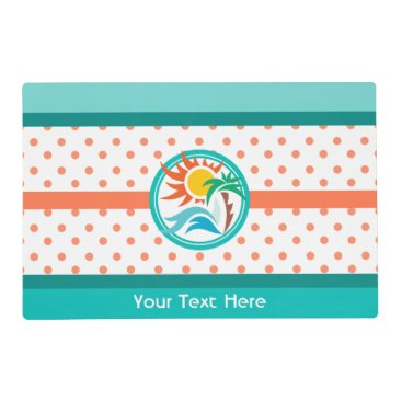 Beach Themed Sun & Surf Placemat