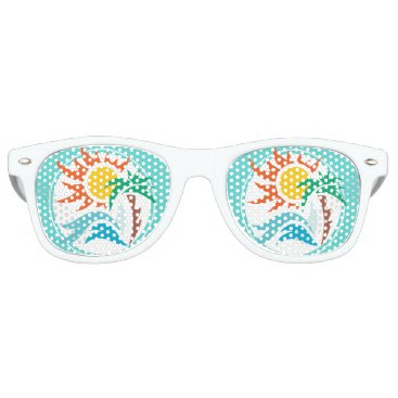 Beach Themed Sun & Surf Retro Sunglasses