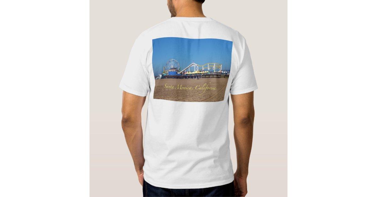 Sun surf sand santa monica california shirt zazzle for Sun t shirts sunland california