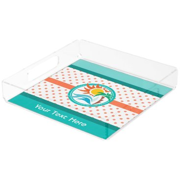 Beach Themed Sun & Surf Serving Tray