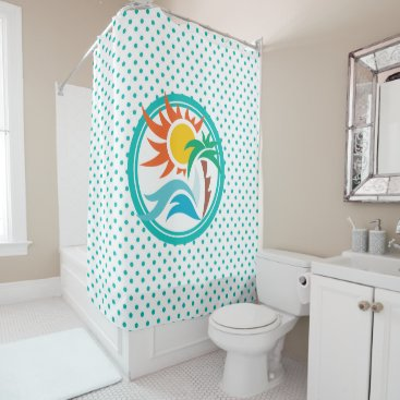 Beach Themed Sun & Surf Shower Curtain