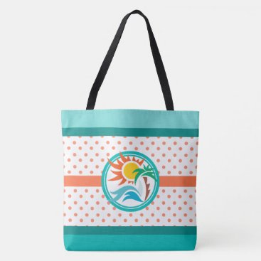 Beach Themed Sun & Surf Tote Bag