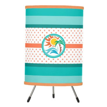 Beach Themed Sun & Surf Tripod Lamp