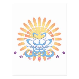 Sun & Surf!  Vector Art: Postcard