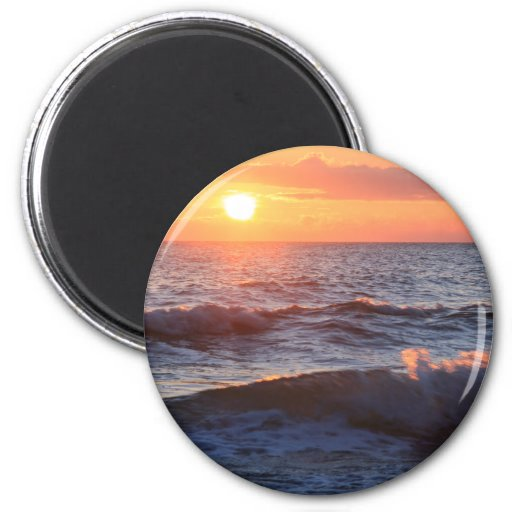 Sun, Surf, & Waves 2 Inch Round Magnet