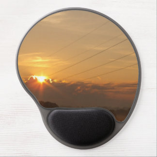 Sun surfaces above the clouds over foggy Pasture Gel Mouse Pad